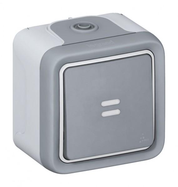 Aufputzschalter Feuchtraum mit Kontrollleuchte IP55