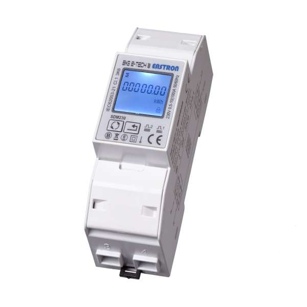 SDM230Modbus MID - 1Phasen 2TE LCD Wechselstromzähler