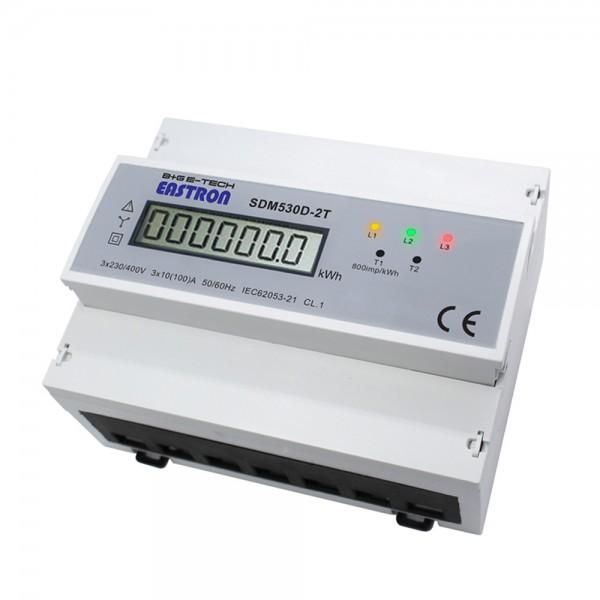 SDM530D-2T - 3-Ph. DTDSZ für DIN Hutschiene