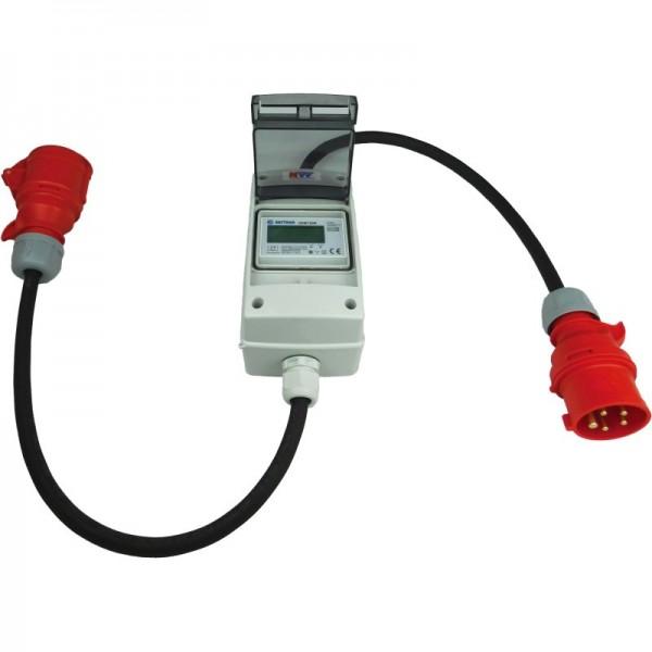 16A CEE - mobiler digitaler Stromzähler - geeicht - (mit Reset) IP44