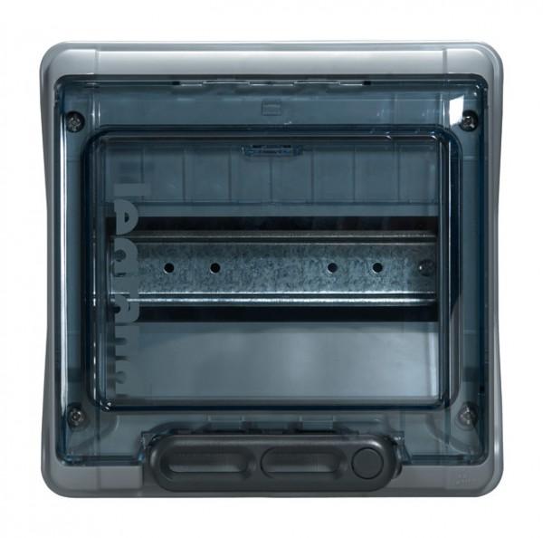 Feuchtraum Aufputzverteiler mit 1 Reihe / 8 TE