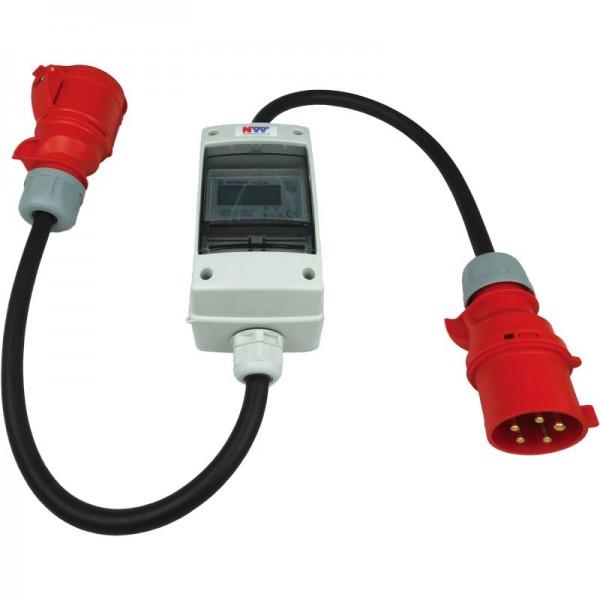 32A CEE - mobiler digitaler Stromzähler - geeicht - (ohne Reset) IP44