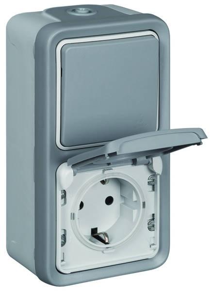 Feuchtraum Wechselschalter / Steckdose kombiniert