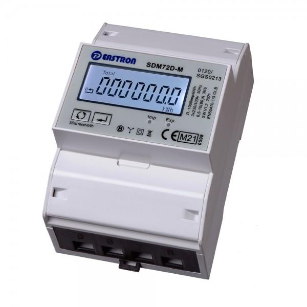 SDM72DM MID - 3 Phasen Zweirichtungs-Drehstromzähler mit RS485 und S0
