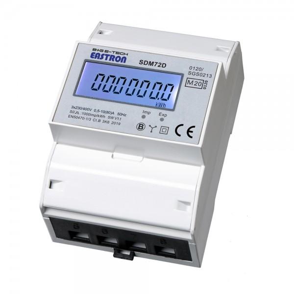 SDM72D MID2020 3-Phasen DSZ für DIN Hutschiene