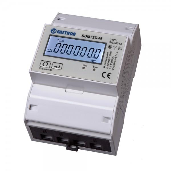 SDM72DM-V2 MID - 3 Phasen Zweirichtungs-Drehstromzähler mit RS485 und S0