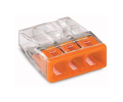 WAGO Verbindungsdosenklemme 3x0,5-2,5 orange 2273-203