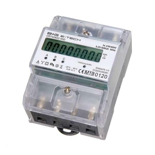 DRT428DC-MID - 3P DSZ geeicht für DIN Hutschiene