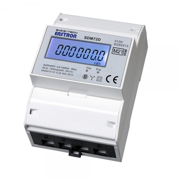 SDM72D MID 3-Phasen DSZ für DIN Hutschiene