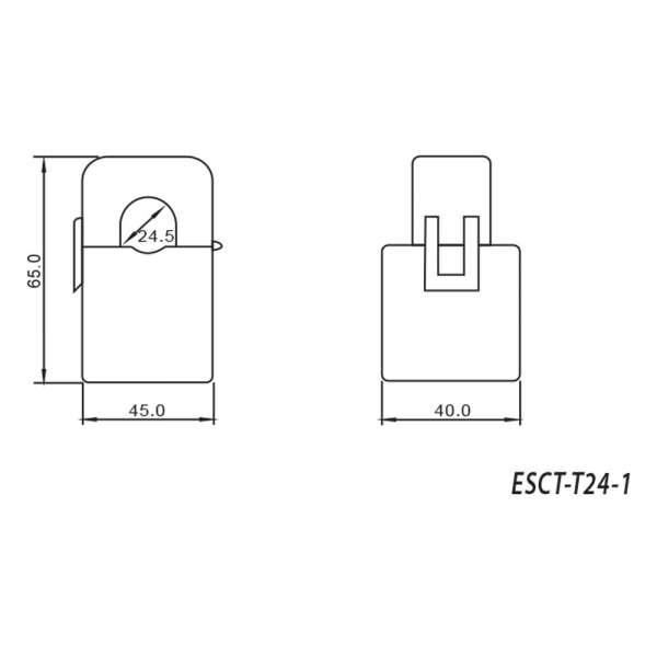 Klappwandler 300/5A ESCT-T24