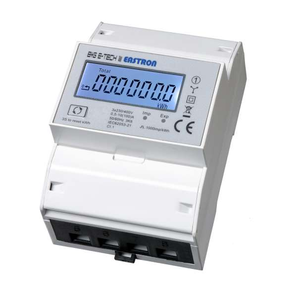 SDM72BiS - 3P 4TE LCD Zweirichtungs-DSZ für DIN Hutschiene