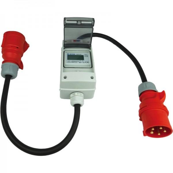 32A CEE - mobiler digitaler Stromzähler - geeicht - (mit Reset) IP44