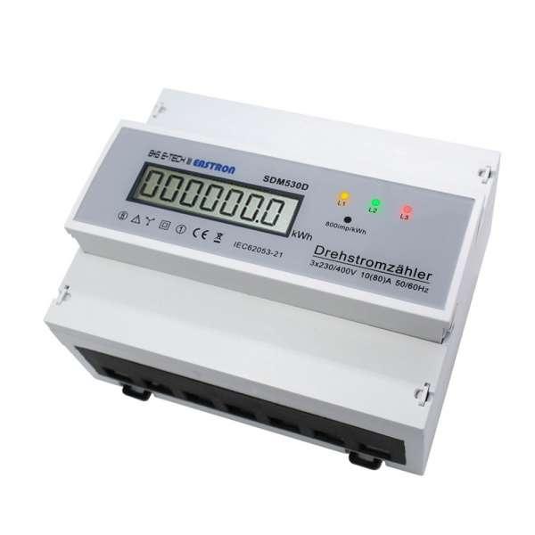 SDM530D - 3-Ph. DSZ für DIN Hutschiene