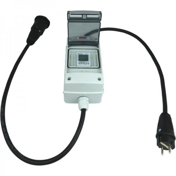 230V Schuko - mobiler digitaler Stromzähler - geeicht - (mit Reset) IP54