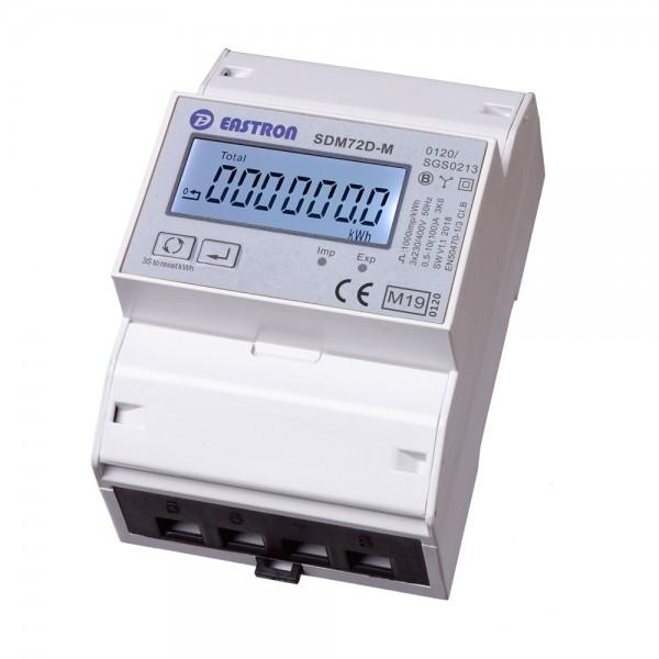 SDM72DM MID - 3P 4TE LCD Zweirichtungs-DSZ für Hutschiene
